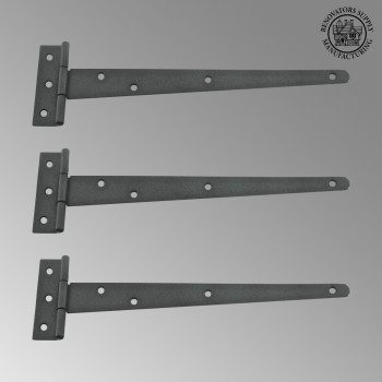 <PRE>T Strap Door Hinge RSF Black Iron Light Duty Hinge 11inch Pack of 3</PRE>zoom2
