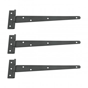 <PRE>T Strap Door Hinge RSF Black Iron Light Duty Hinge 11inch Pack of 3</PRE>zoom1