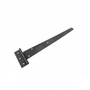 <PRE>Tee T-Strap Door Hinge Black Light Duty Stamped Malleable 13inch Length Set of 6 </PRE>zoom5