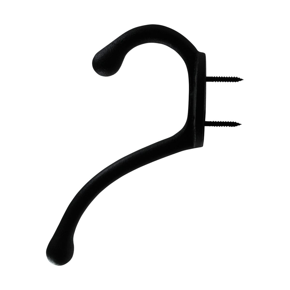25 Hook Wrought Iron Black Cast RSF 5 12H X 3 34 Proj Hooks Decorative Hook Coat Hook