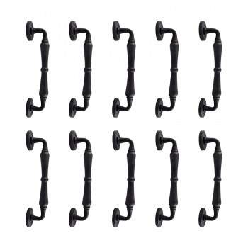 <PRE>10 Door Pull Black Wrought Iron Spindle 9&quot; H </PRE>