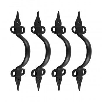 <PRE>4 Door Pulls Spear Black Wrought Iron 10 1/2inch </PRE>zoom1