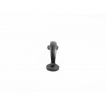 <PRE>12 Door or Drawer Pull Bean Black Wrought Iron 4 7/8inch </PRE>zoom7