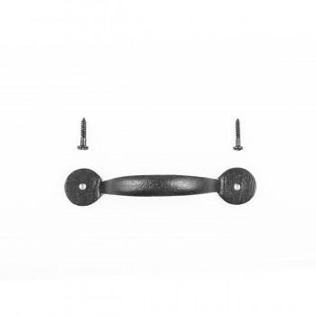 <PRE>12 Door or Drawer Pull Bean Black Wrought Iron 4 7/8inch </PRE>zoom8