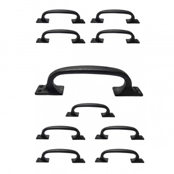 <PRE>10 Door Pull Black Wrought Iron 6&quot; </PRE>