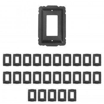 <PRE>25 Switchplate Black Steel SIngle GFI RSF</PRE>zoom1