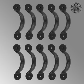 "<PRE>10 Door or Drawer Pull Black Wrought Iron Bean 3 3/4inch x 11/16"" </PRE>zoom2"
