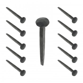 <PRE>10 Clavos Decorative Nail Head Square Black Hand Forged Iron Renovator's Supply</PRE>zoom1