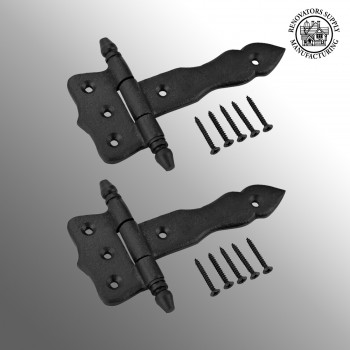<PRE>2 Hinge Black Wrought Iron Hinge 5 in.</PRE>