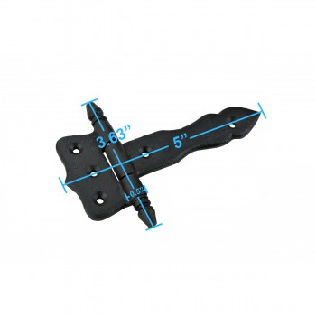 spec-<PRE>2 Hinge Black Wrought Iron Hinge 5 in.</PRE>
