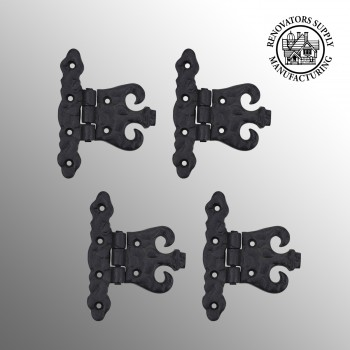 4 Wrought Iron Hinge Black Rustproof Door or Cabinet wrought iron door hinges Door Hinges Cabinet Hardware