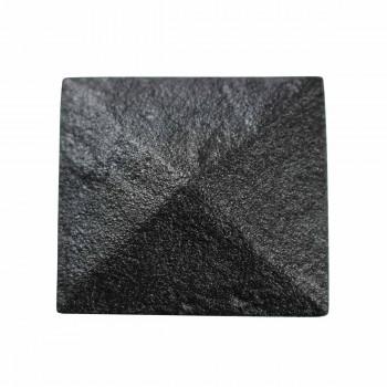 Cabinet Knob Square Black Iron 1 1/4