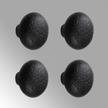 Cabinet Knob Black Wrought Iron   4 Pack