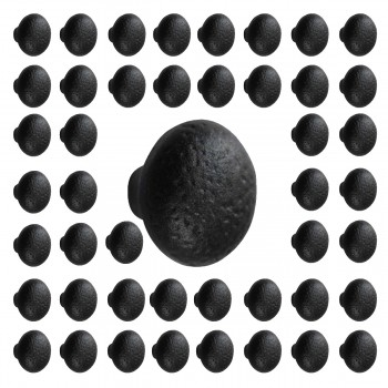 Cabinet Knob Black Wrought Iron Pack of 50