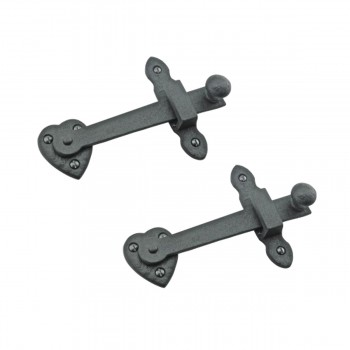 Gate Latch Black Wrought Iron Set 4in X 6 3/8in 2 Pack Rensup