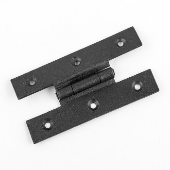 Forged Iron Cabinet Hinge H Style 3.5 inch H w Offset Pack of 3 Door Hinges Door Hinge Solid Brass Hinge