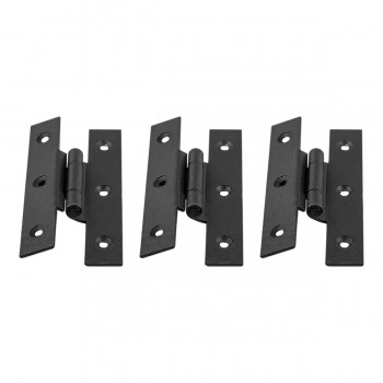 <PRE>Forged Iron Cabinet Hinge H Style 3.5 inch H w/ Offset Pack of 3</PRE>zoom1