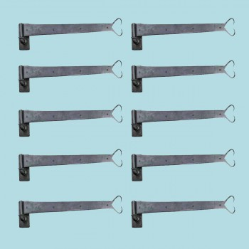 <PRE>10 Pintle Strap Door Hinge Heart Tip Black Wrought Iron 34inch </PRE>zoom2