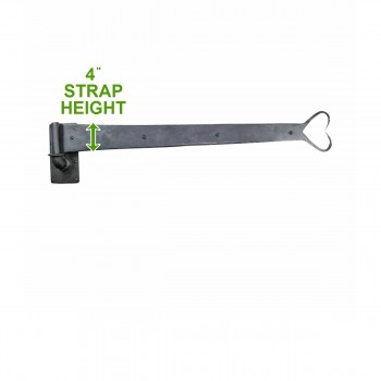 spec-<PRE>10 Pintle Strap Door Hinge Heart Tip Black Wrought Iron 34&quot; </PRE>