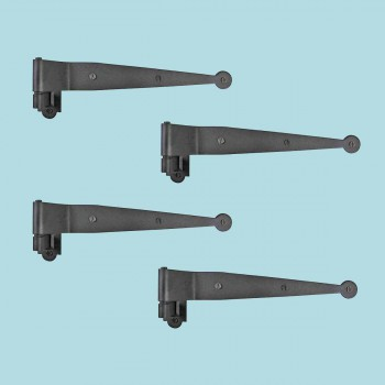 4 Offset Pintle Shutter Strap Hinge Wrought Iron 11 34 Shutter Dog Shutter Hardware Shutter Dogs