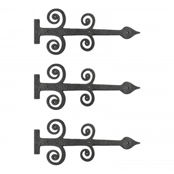 Iron Strap Hinges Heavy Duty Decorative Door Gate Hinges 16 Inch Set of 3