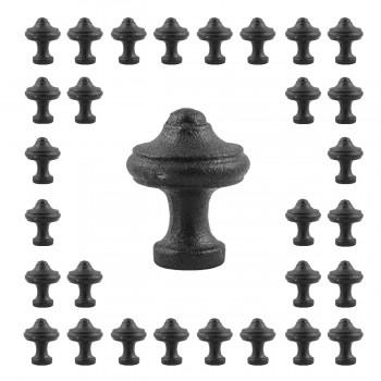 30 Cabinet Knobs Black Cast Iron 1
