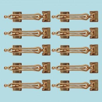 <PRE>10 Door Security Safety Guard Lock Latch Heavy Solid Brass </PRE>zoom2