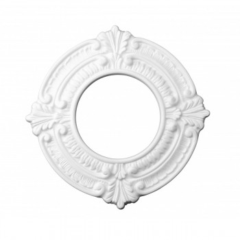 10 White Spotlight Ring 4 ID x 8 OD Lightweight 10 Pack ceiling medallion lighting decorative decor diy classic traditional antique vintage rustic artisan victorian colonial authentic