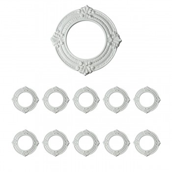 10 White Spotlight Ring 4 ID x 8 OD Lightweight 10 Pack