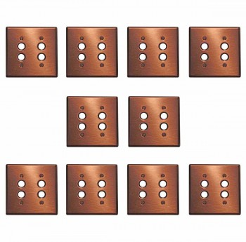 <PRE>10 Switchplate Brushed Solid Copper Double Pushbutton </PRE>zoom1