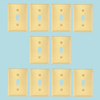 10 Switch Plate Brushed Brass Single ToggleDimmer Switch Plate Wall Plates Switch Plates