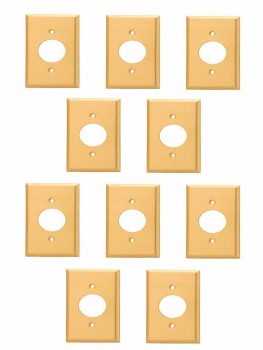 <PRE>10 Switch Plate Brushed Solid Brass Single Receptacle </PRE>zoom1