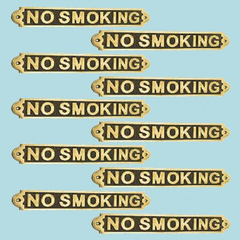 spec-<PRE>Polished Brass Plaques No Smoking Sign Wall Brass Plate</PRE>