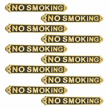 Polished Brass Plaques No Smoking Sign Wall Brass Plate Brass Plaques Brass Plate Brass Signs