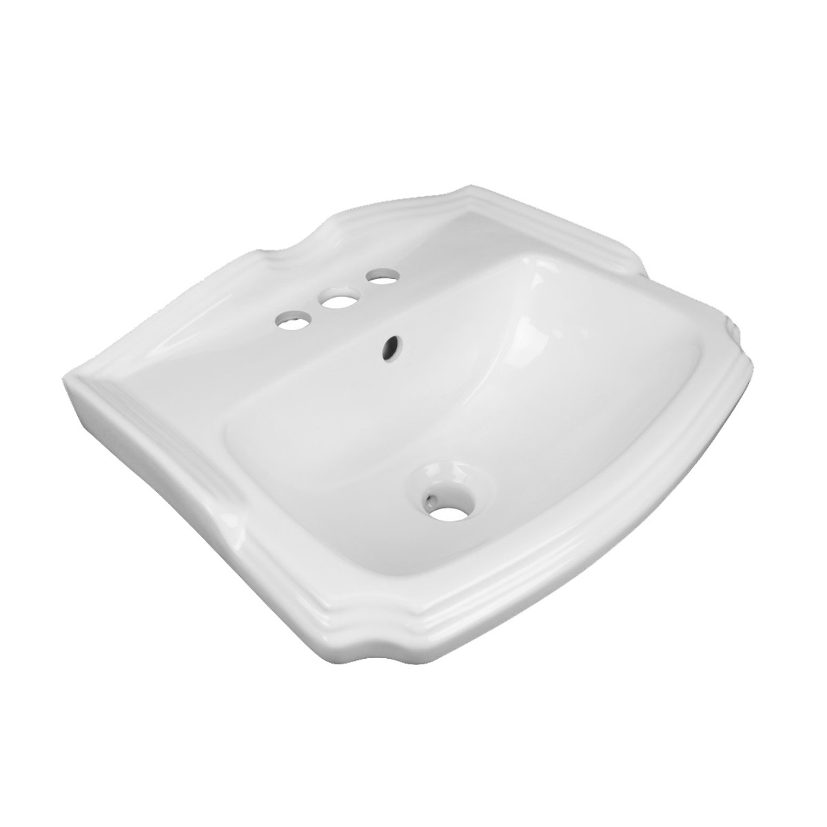Renovators Supply White Small Wall Mount Sink with Faucet, Drain and PTrap Small Wall Mount Bathroom Sink Wall Mount Bathroom Sink White Bathroom Sink
