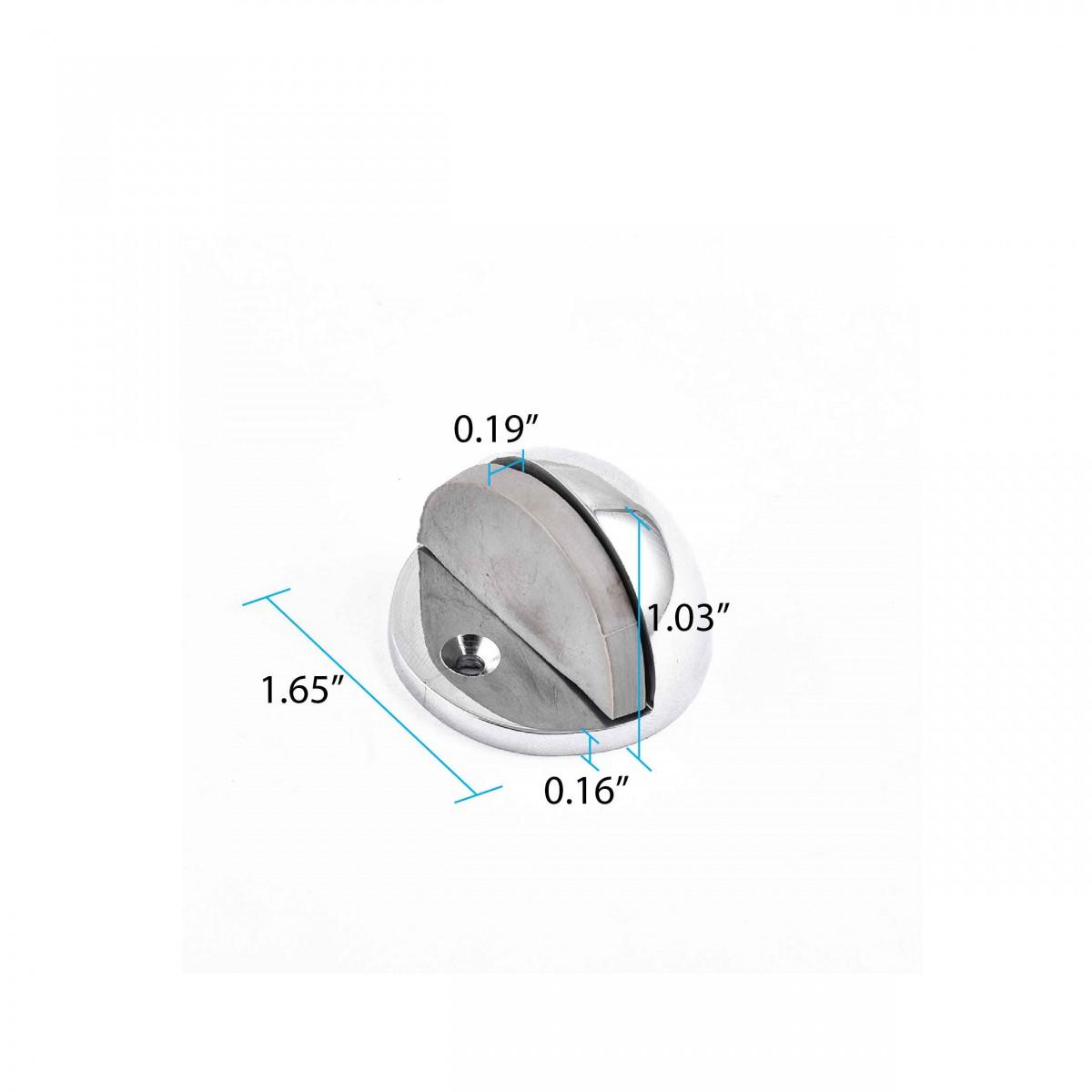 <PRE>10 Brass Door Stop Dome Floor Mount Bumper Chrome </PRE>