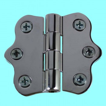 Door Hinges - Ripple Chrome Hinge NO Finials 1 7/16 in. H X 2 in. W by the Renovator's Supply