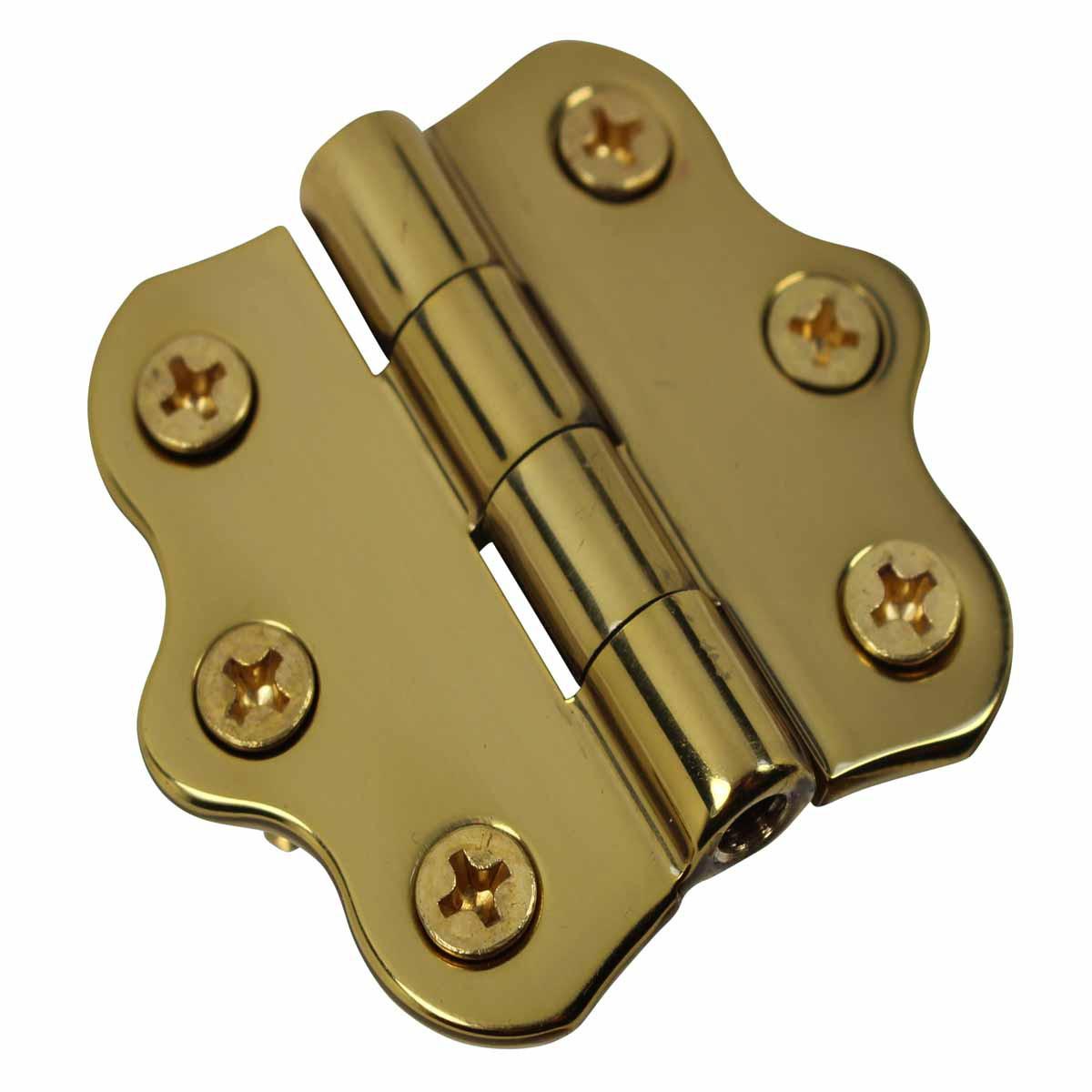 Cabinet Hinge Polished Brass No Finials 1 716H x 2W Door Hinges Door Hinge Solid Brass Hinge