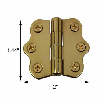 "spec-<PRE>Cabinet Hinge Polished Brass No Finials 1 7/16""H x 2""W </PRE>"