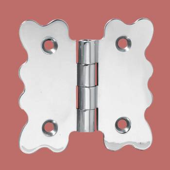 Door Hinges - Scalloped Hinge Chrome Plated 3 in. x 3 in. by the Renovator's Supply