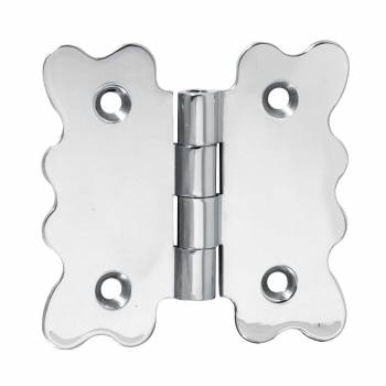 Scalloped Hinge Chrome Plated 3 in. x 3 in.