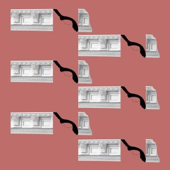 <PRE>Renovator's Supply Cornice White Urethane Greco-roman Ornate Design 6 Pieces Totaling 461.25inch Length</PRE>zoom2