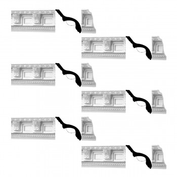 <PRE>Renovator's Supply Cornice White Urethane Greco-roman Ornate Design 6 Pieces Totaling 461.25inch Length</PRE>zoom1