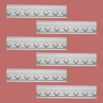 <PRE>Renovator's Supply Cornice White Urethane Fris Ornate Design 6 Pieces Totaling 474inch Length</PRE>zoom2