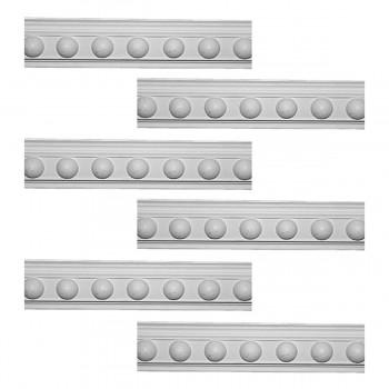 <PRE>Renovator's Supply Cornice White Urethane Fris Ornate Design 6 Pieces Totaling 474inch Length</PRE>zoom1