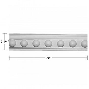 """spec-<PRE>Renovator's Supply Cornice White Urethane Fris Ornate Design 6 Pieces Totaling 474"""" Length</PRE>"""