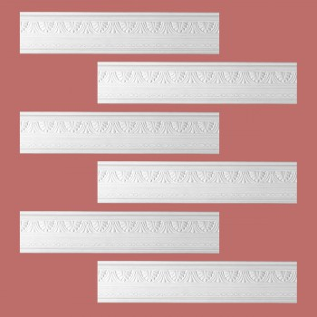 <PRE>Renovator's Supply Cornice White Urethane Pearl Ornate Design 6 Pieces Totaling 474inch Length</PRE>zoom2