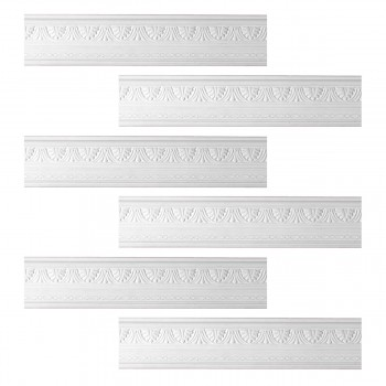 <PRE>Renovator's Supply Cornice White Urethane Pearl Ornate Design 6 Pieces Totaling 474inch Length</PRE>zoom1
