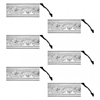 Renovators Supply Cornice White Urethane Bridge Of Flowers Ornate  6 Pieces Totaling 462 Length White PrePrimed Urethane Crown Cornice Molding Cornice Crown Home Depot Ekena Millwork Molding Wall Ceiling Corner Cornice Crown Cove Molding