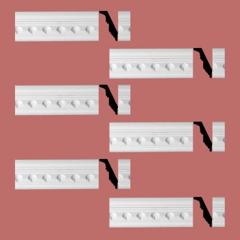 Renovators Supply Ornate Cornice White Urethane Golfini Design 6 Pieces Totaling 567 Length White PrePrimed Urethane Crown Cornice Molding Cornice Crown Home Depot Ekena Millwork Molding Wall Ceiling Corner Cornice Crown Cove Molding